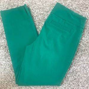 Stretchy Green Capri Pants